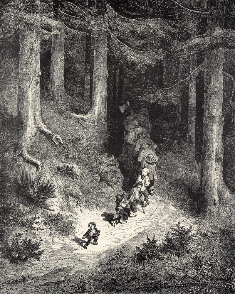 Le Petit Poucet (french version of Hansel & Gretel), illustré par Gustave Doré